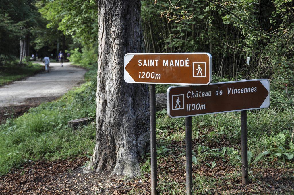 Bois de Vincennes avec les directions annoncées