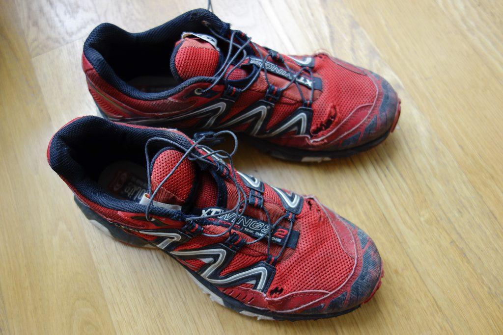 Chaussures de trail à la fin du GR