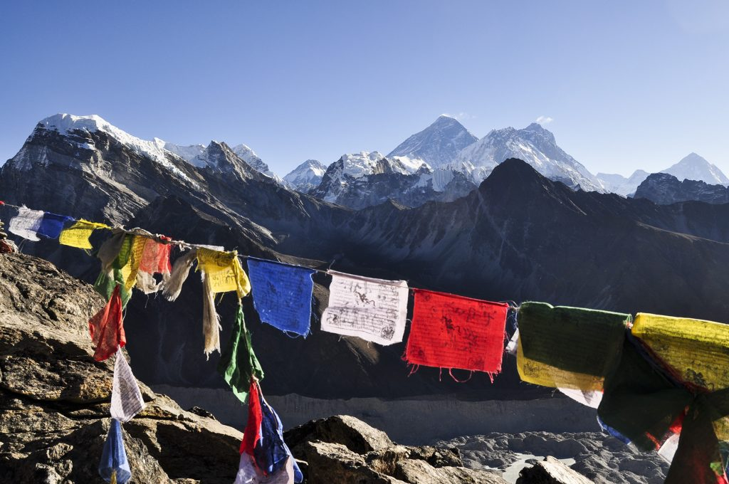 Vue sur l'Everest depuis le Gokyo Ri