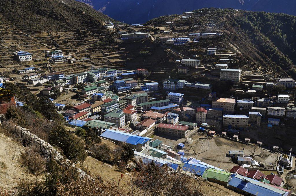 Village de Namche Bazar à 3400m d'altitude