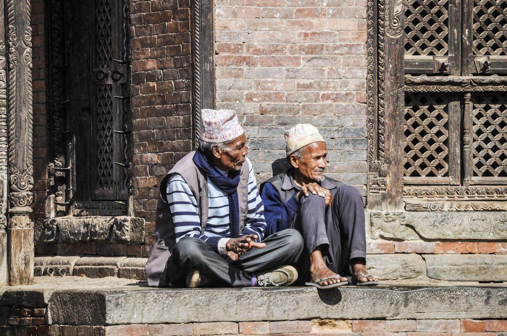 Népalais près de Katmandou
