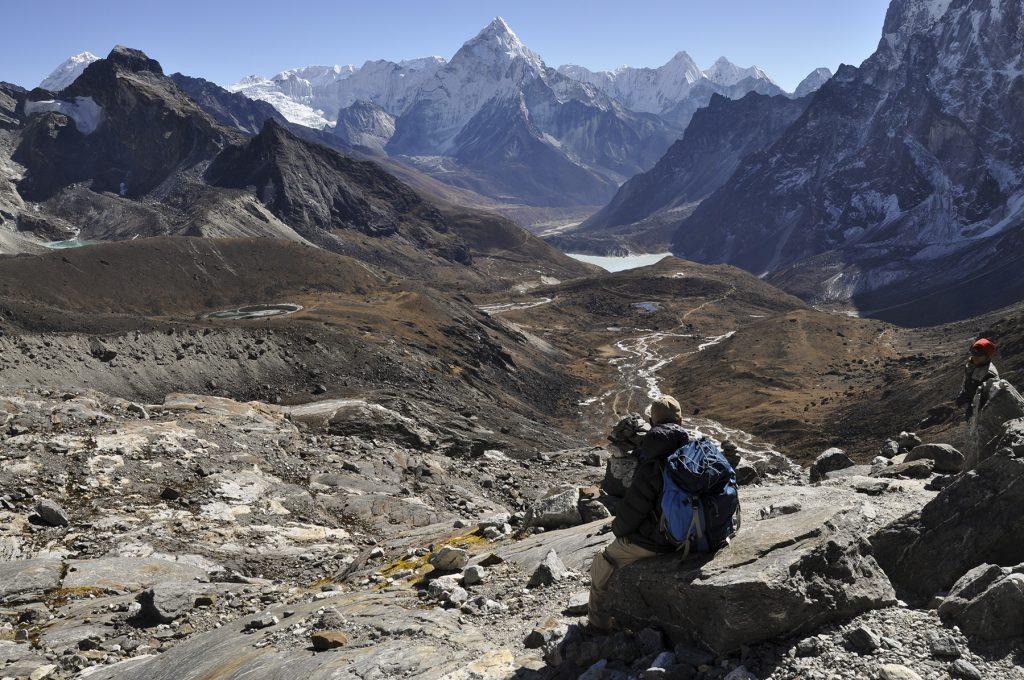 Entre la vallée de Gokyo et celle de l'Everest