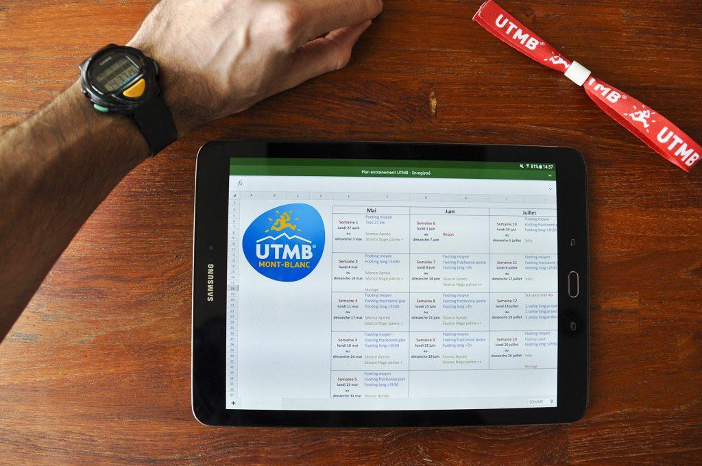 Plan d'entrainement pour l'UTMB