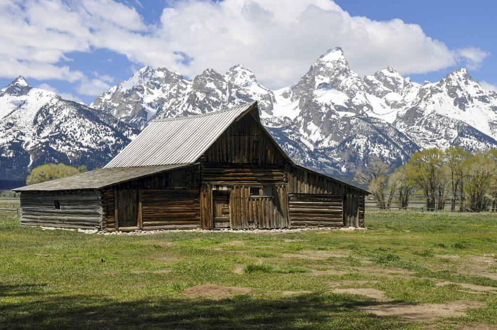 La vue sur les montagnes de Grand Teton