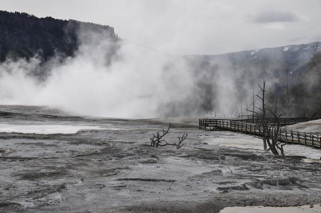 Les activités géothermiques de Yellowstone