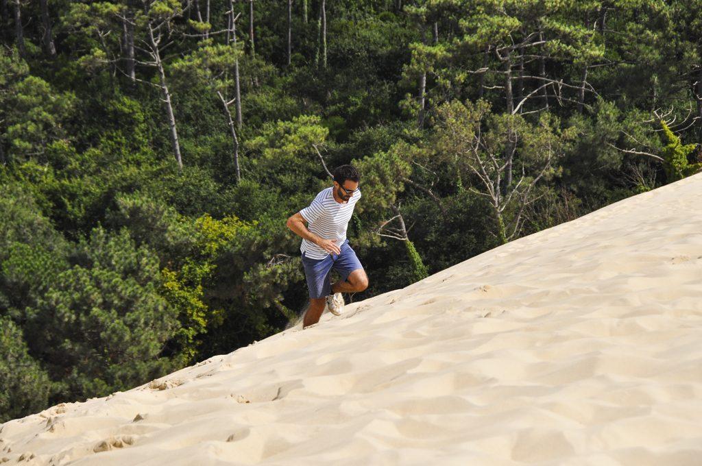 Travail de montée sur la dune du Pilat