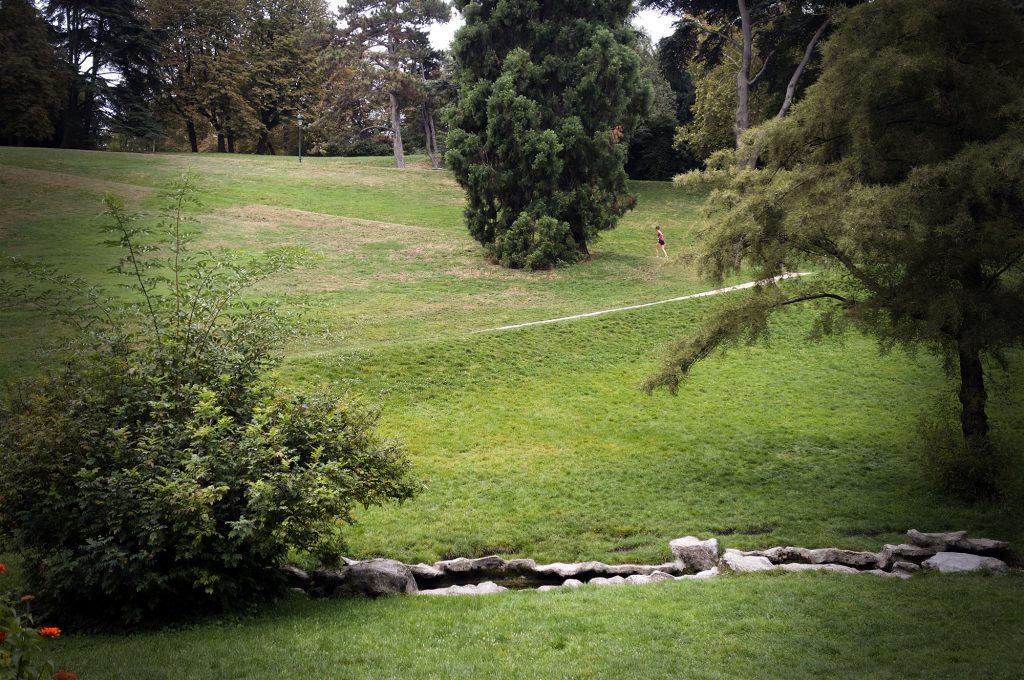 Les pentes du parc des Buttes Chaumont