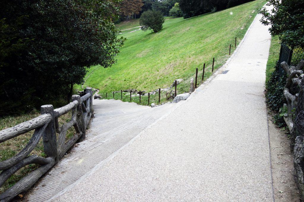 Un travail spécifique en côte au parc des Buttes Chaumont