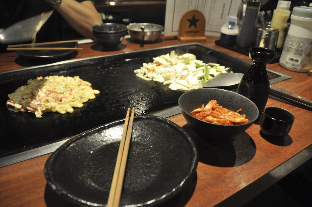 Diner japonais le soir