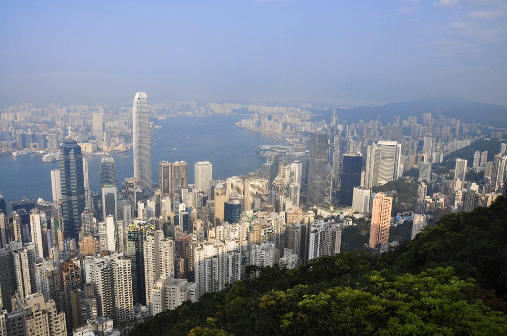 Vue sur la ville de Hong Kong