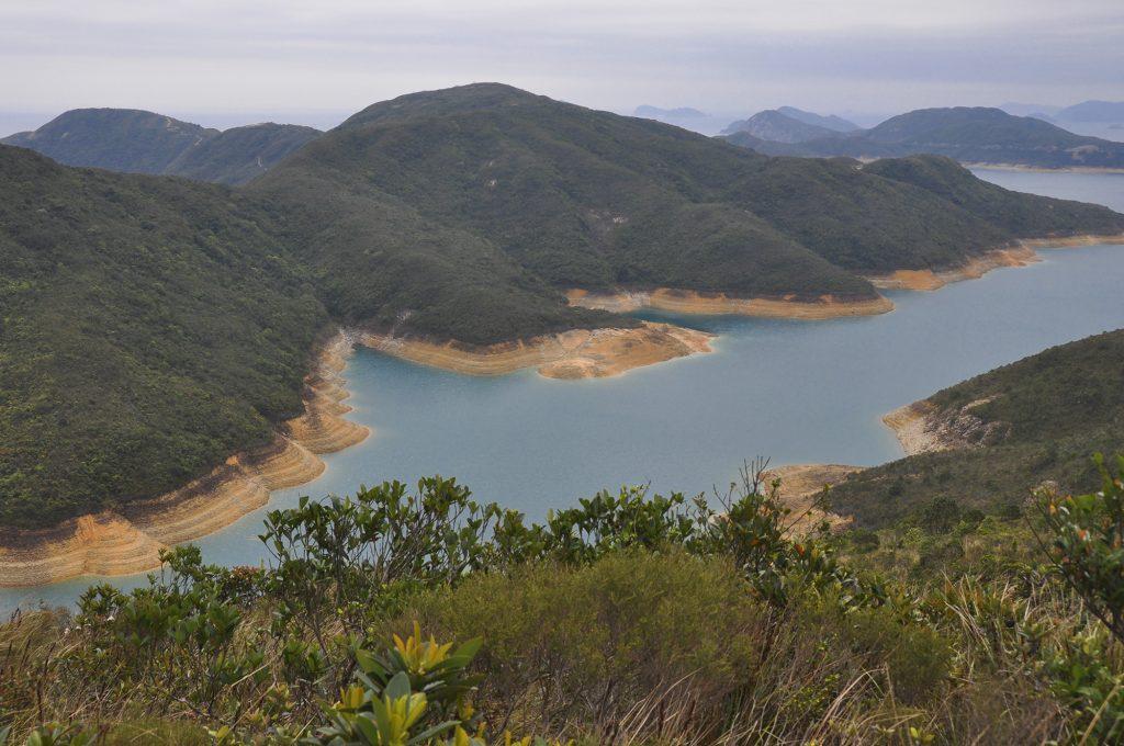 Un des réservoirs de Hong Kong