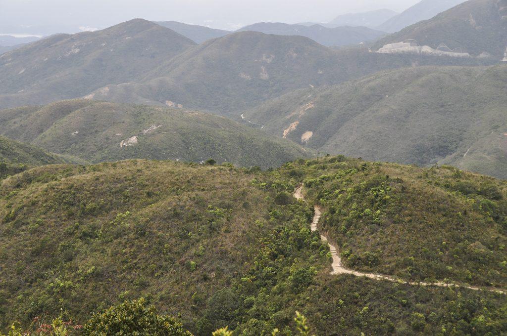 Les sentiers sur les nouveaux territoires de Hong Kong