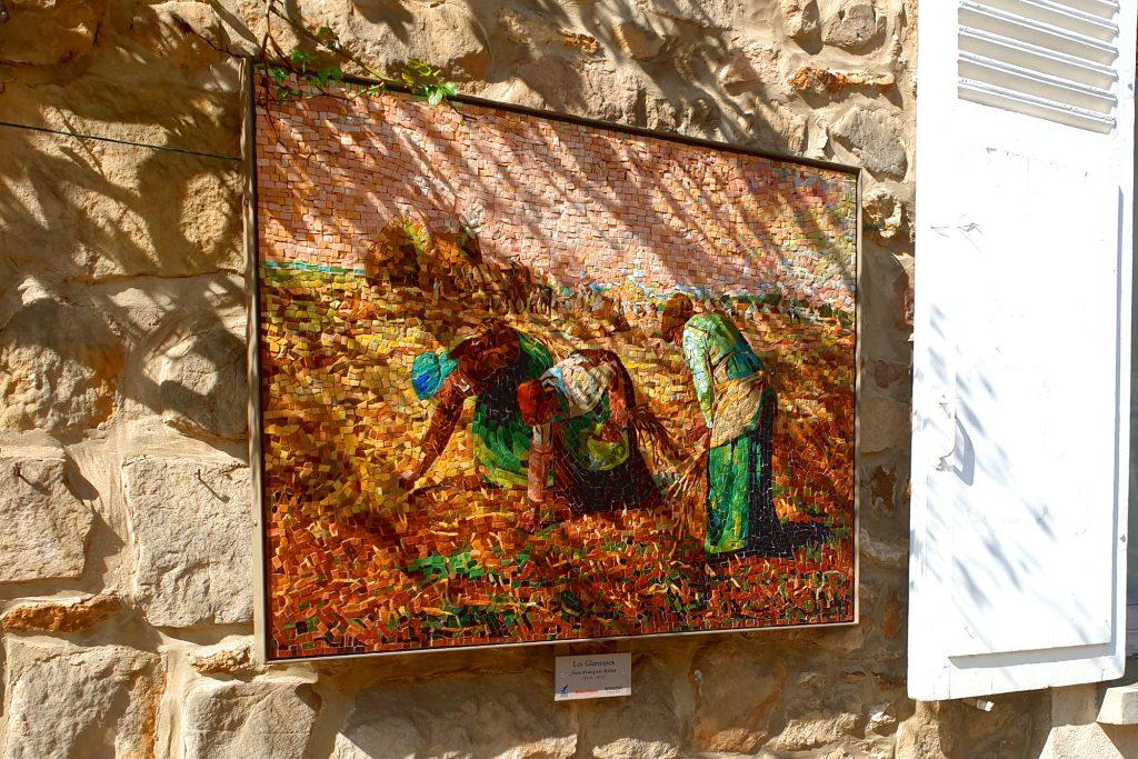 Reproduction de peinture dans le village de Barbizon